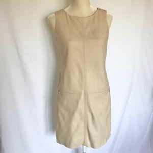 WHBM Tan Paneled Shift Dress